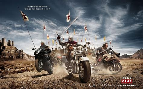 Papéis De Parede Cavaleiro Da Motocicleta Na Guerra Antiga