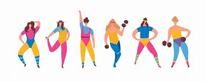 80s Workout Aerobics Vector Physical Outfit Exercise