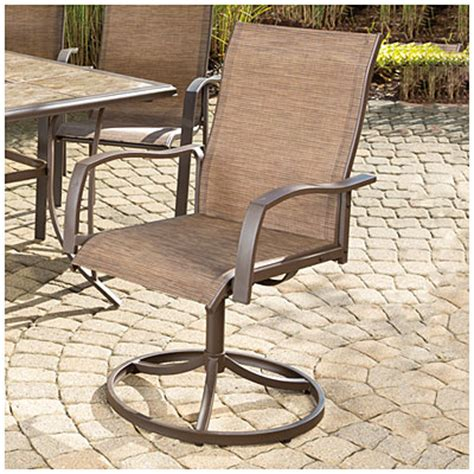 Big Lots Folding Patio Chairs by View Wilson Fisher 174 Set Of 2 Chesapeake Sling Swivel