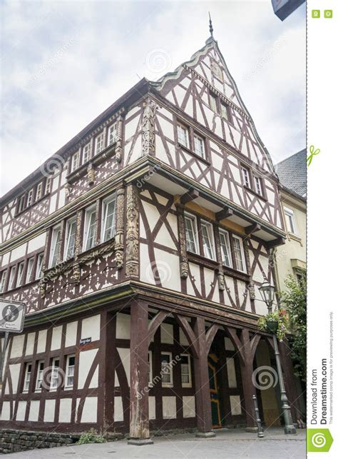 half timbered house plans half timbered building in boppard germany stock photo