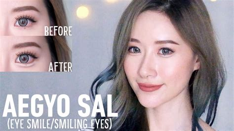 aegyo sal puffy smiling eyes   steps elle