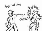 Fnaf Foxy Drawing Getdrawings Techmarine Stop Deviantart sketch template