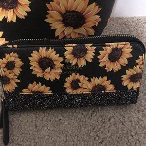 kate spade bags sunflower purse  wallet set poshmark