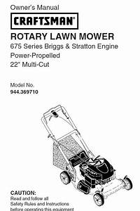 944 369710 Manual For Craftsman Lawn Mower Self