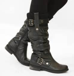 womens wide calf boots size 11 womens flat biker boots wide calf boots size 7 ebay