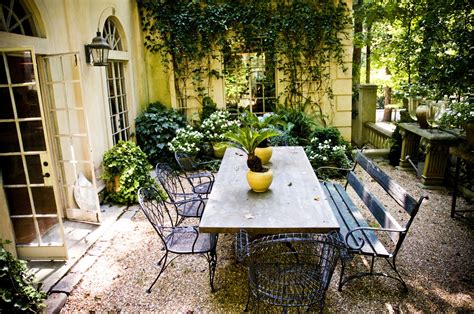 style courtyards vintage style courtyard in summer backyard