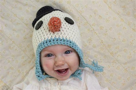 baby snowman easy crochet hat allfreeholidaycraftscom