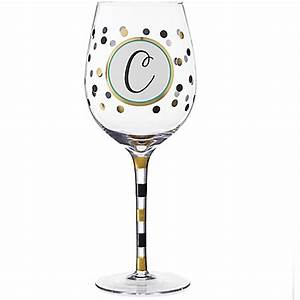 buy monogram letter quotcquot wine glass from bed bath beyond With letter wine glasses