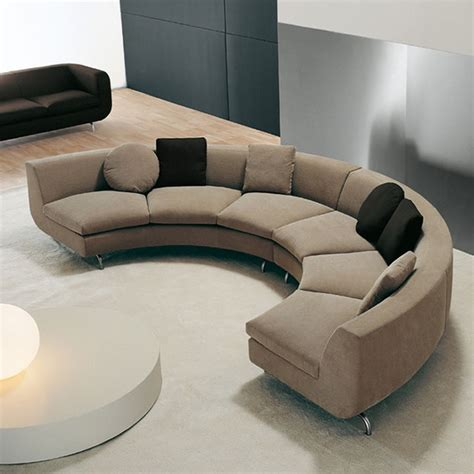 Curvedround Shaped Sectional Sofa  沙發 Pinterest