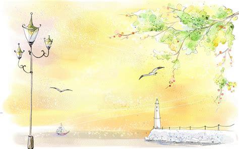 landscape color drawing hd wallpaper pixelstalknet