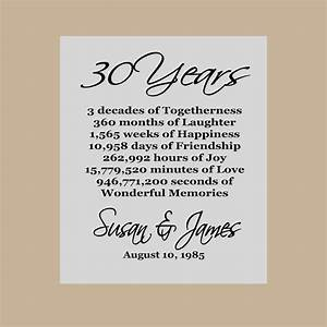 30th anniversary gift pearl anniversary personalized With 30 wedding anniversary gift
