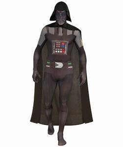 Adult Darth Vader Bodysuit Movie Halloween Costume - Movie ...