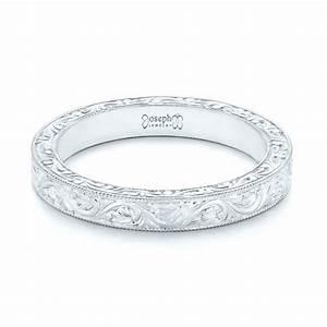 custom hand engraved wedding band 102850 With custom engraved wedding rings