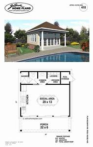 Pool, House, Plans, With, Bathroom
