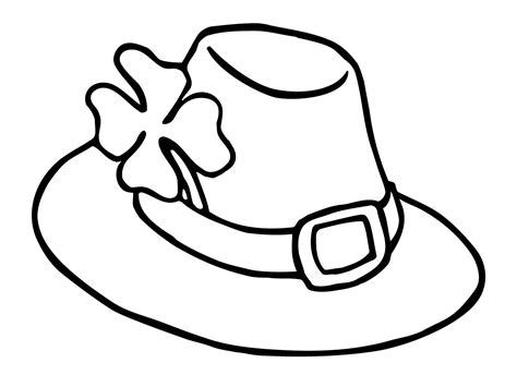 leprechaun hat coloring pages st patricks day