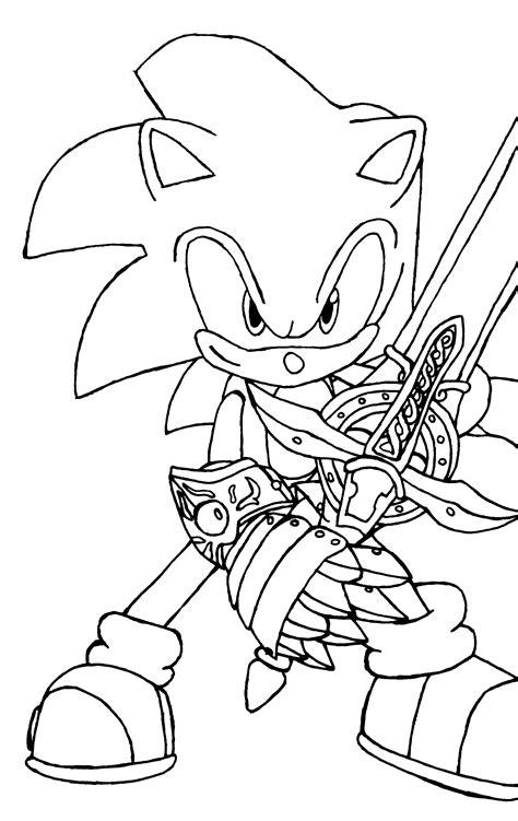 printable sonic  hedgehog coloring pages  kids