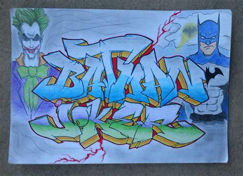 Graffiti Joker Hitam Putih : Batman And Joker Graffiti By Jearoner On Deviantart