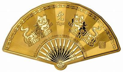 Chinese Fan Medal Shaped Lunar 3rd Edition