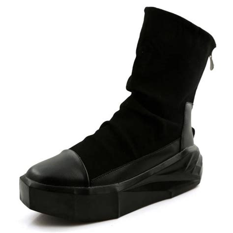 European Men Creepers Irregular Sole Ankle Boots Punk