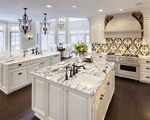 delicatus white granite dark floors w o the crazy With what countertops go with white cabinets