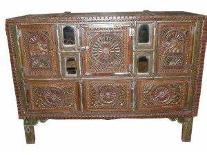 amazoncom rajasthan chakra hand carved traditional With kitchen furniture in jaipur