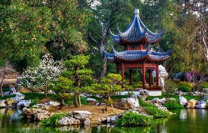 Garden Japanese Gazebo Park Marino San California