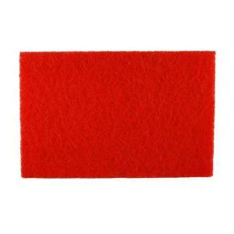 diablo 12 in x 18 in non woven red buffer pad