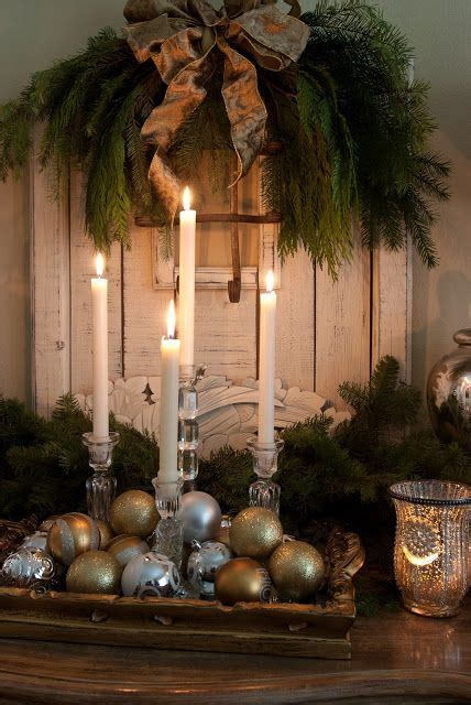simple elegant buffet decor gold silver ornaments