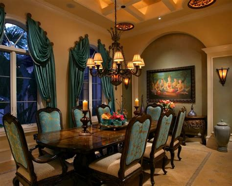 sophisticated mediterranean dining room designs  show   luxury