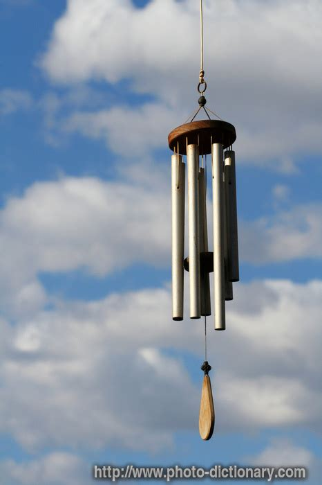 wind chime photopicture definition  photo dictionary wind chime word  phrase defined