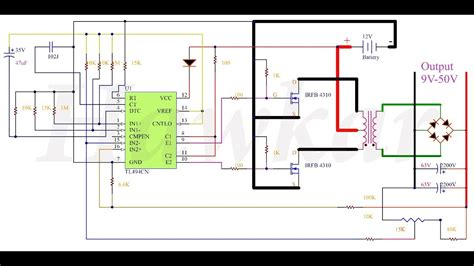 Tl494 Inverter Circuit by Convert Dc To Dc Use Tl494 With Mosfet