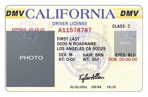 california drivers id template psd images california