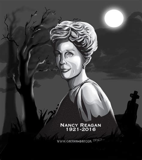 nancy regan death celebrity gravestone tribute cartoon