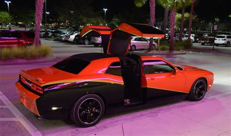 Four Door Dodge Challenger SRT8 Has Rear Gullwing Doors