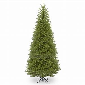 National Tree Company 14 ft. Dunhill Fir Slim Tree with ...