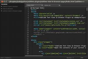 Windows 10 Zip Files Sublime Text View In Browser Plugin By Adampresley