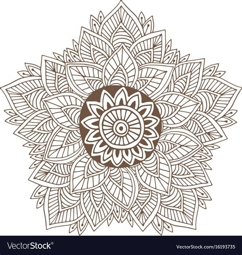 mandala  henna tattoo design ornamental  vector image