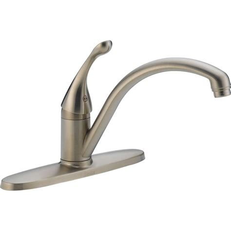 kitchen sink faucets home depot delta collins lever single handle kitchen faucet in