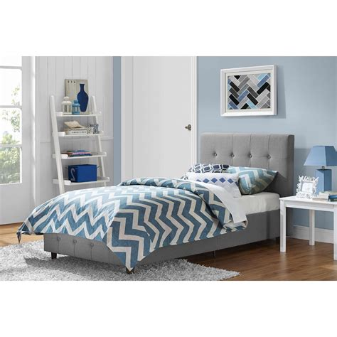 Twin bed frames with headboard, wood twin bed with trundle, platform bed for guest room, boys and girls, twin size, grey 4.0 out of 5 stars 15 wood daybed with a trundle, trundle daybed twin size, standard twin bed frame, no box spring required (grey trundle daybed) Twin size Grey Upholstered Platform Bed Frame with Button ...