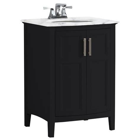 Rounded Bathroom Vanity by Simpli Home Winston 24 In Rounded Front Bath Vanity In