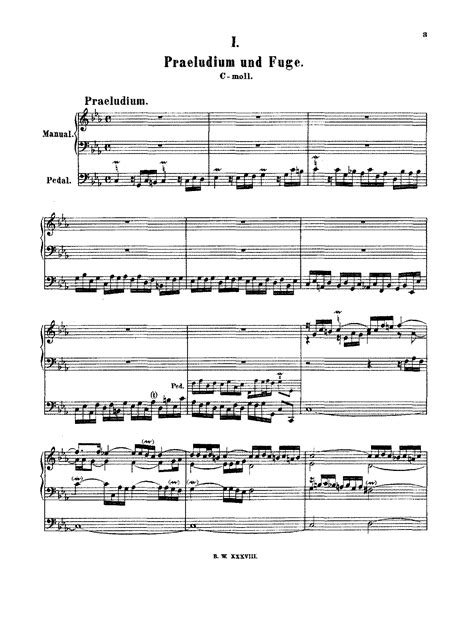 Prelude And Fugue In C Minor Bwv 549 Bach Johann