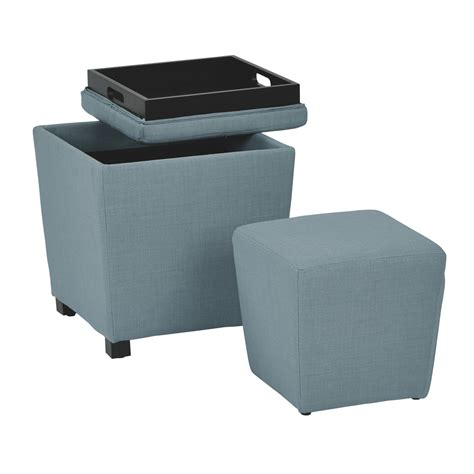 cube ottoman with tray 21 storage ottoman with tray top leather cube storage