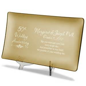 50th wedding anniversary favors 50th wedding anniversary personalized gold glass tray