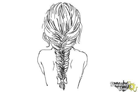 draw  fishtail braid drawingnow