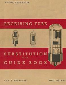 Receiving Tube Substitution Guide Books   Rider