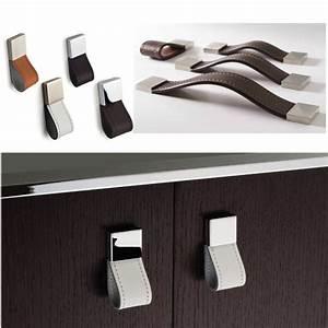 Poignée Meuble Cuir : qualit design l gant poign e en cuir super meubles ~ Teatrodelosmanantiales.com Idées de Décoration