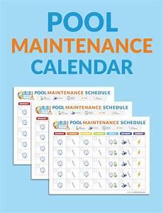 Pool Maintenance Schedule Template  U2013 Printable Schedule