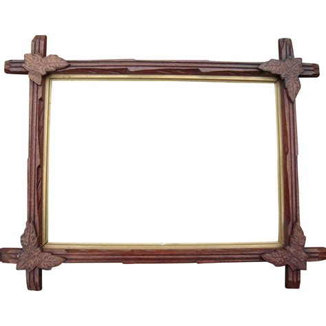 corner frames carved walnut picture frame w corner leaves 10 quot x 14 quot 2 from bluesprucerugsandantiques on ruby lane
