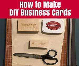 How to make diy business cards o the crafty mummy for How to get business cards made