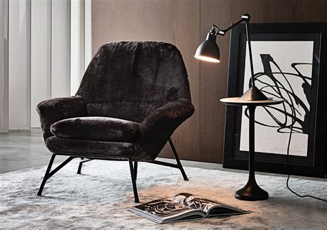 Chair With Ottoman Foot Prince, Minotti